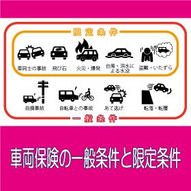 車両保険の一般条件と限定条件
