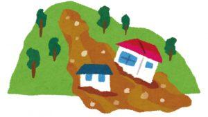 土砂崩れは水災補償の対象